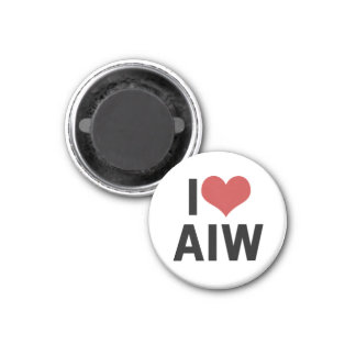 I Heart AIW Magnet-Round 1 Inch Round Magnet