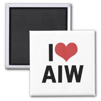 I Heart AIW Magnet-Square