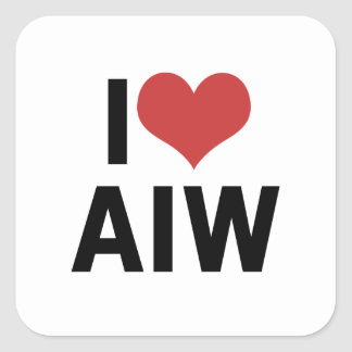 i Heart AIW - Square Stickers