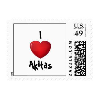 """I *heart* Akitas"" stamp"