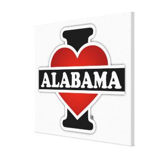 I Heart Alabama Canvas Print