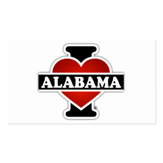 I Heart Alabama Double-Sided Standard Business Cards (Pack Of 100)