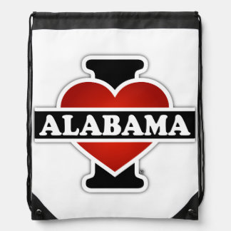 I Heart Alabama Drawstring Bag