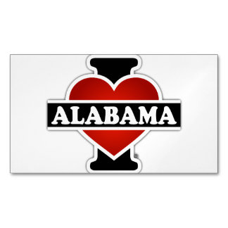 I Heart Alabama Magnetic Business Cards (Pack Of 25)