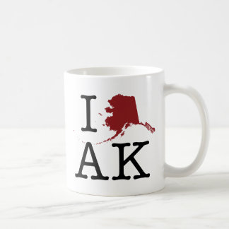 I Heart Alaska Coffee Mugs