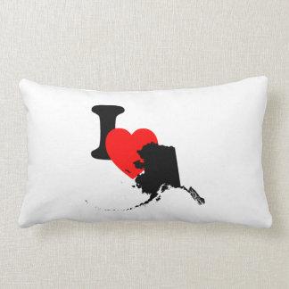 I Heart Alaska Throw Pillows