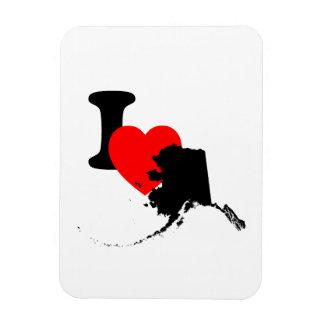 I Heart Alaska Rectangular Photo Magnet