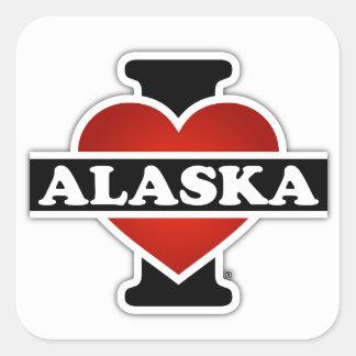 I Heart Alaska Square Sticker