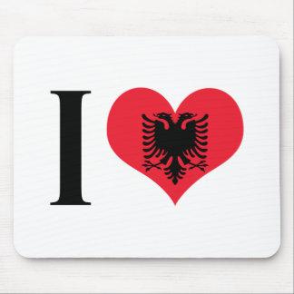 I Heart Albania - I Love Albania - Albanian Flag Mouse Pad