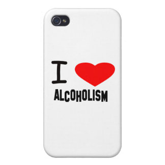 I Heart ALCOHOLISM iPhone 4/4S Covers