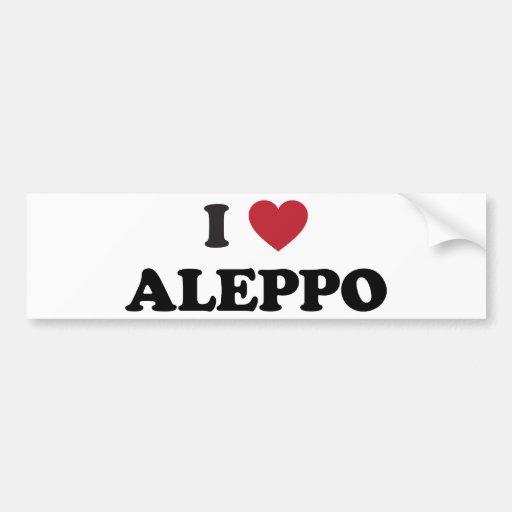 I Heart Aleppo Syria Bumper Sticker