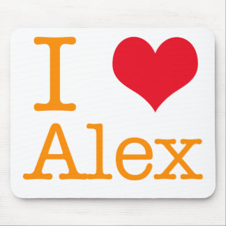 I Heart Alex Mouse Pad