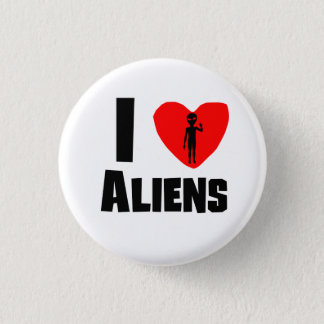 I Heart Aliens Button