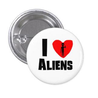 I Heart Aliens Pinback Buttons