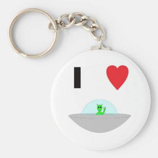 I heart Aliens Keychain