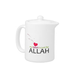 i heart Allah   Teapot