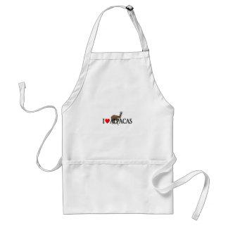"I ""heart"" alpacas adult apron"