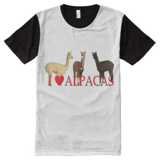 I Heart Alpacas All-Over-Print Shirt