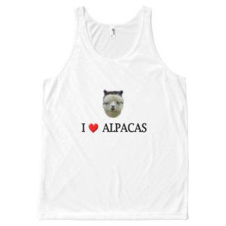 I Heart Alpacas All-Over-Print Tank Top