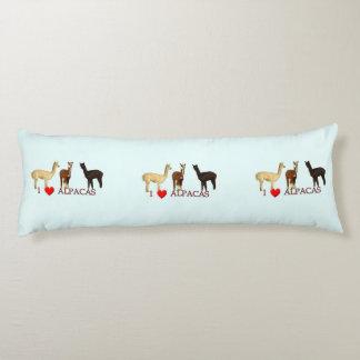 I Heart Alpacas Body Pillow