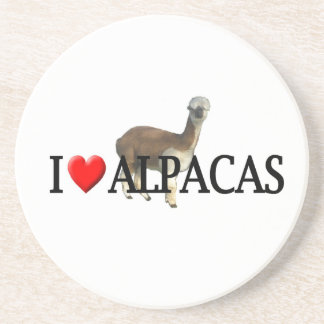 I heart alpacas beverage coaster