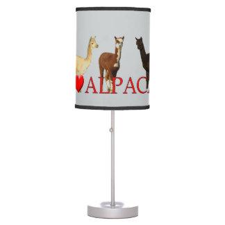 I Heart Alpacas Desk Lamp