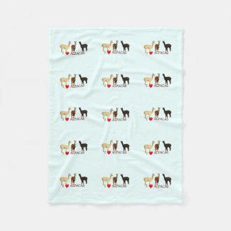 I Heart Alpacas Fleece Blanket