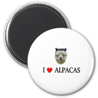 "I ""heart"" alpacas magnet"