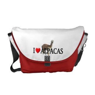 """I """"heart"""" alpacas messenger bag"""