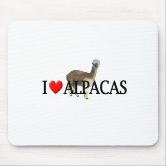 """I """"heart"""" alpacas mouse pads"""