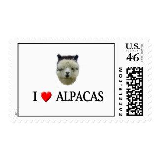 "I ""heart"" alpacas postage stamp"