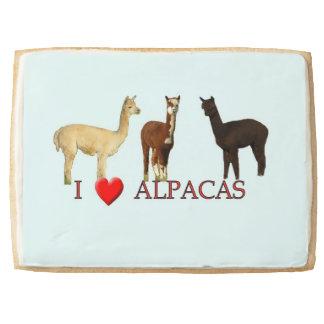 "I ""Heart"" Alpacas Shortbread Cookie"