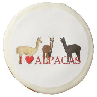 "I ""Heart"" Alpacas Sugar Cookie"