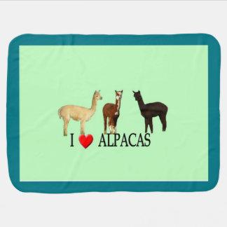 I Heart Alpacas Swaddle Blanket