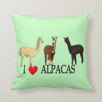 "I ""Heart"" Alpacas Throw Pillow"