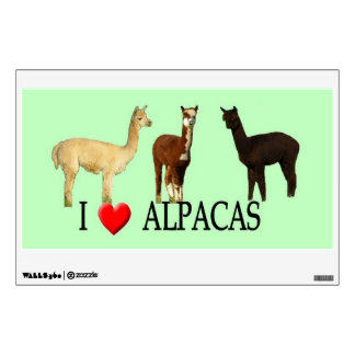 "I ""Heart"" Alpacas Wall Decal"