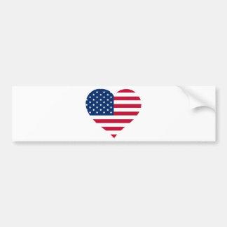 I Heart America Bumper Sticker
