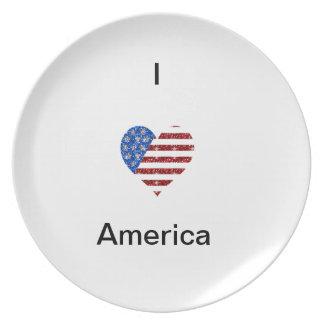 I HEART AMERICA DINNER PLATES