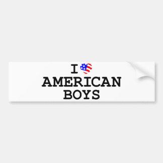 I Heart American Boys Bumper Sticker