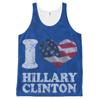 I Heart American Flag Hillary Clinton All-Over Print Tank Top
