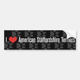 I (heart) American Staffordshire Terriers Car Bumper Sticker