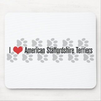 I (heart) American Staffordshire Terriers Mouse Pad