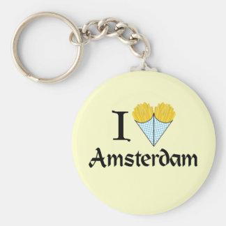 I Heart Amsterdam Keychain