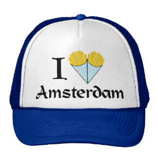 I Heart Amsterdam Trucker Hat