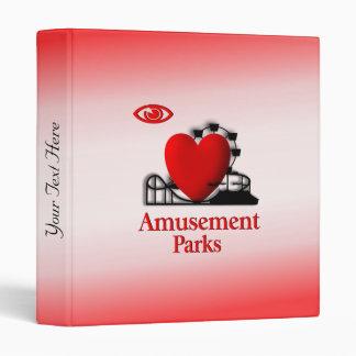 I Heart Amusement Parks Binder