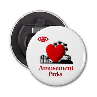 I Heart Amusement Parks Bottle Opener