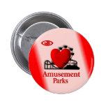 I Heart Amusement Parks Button