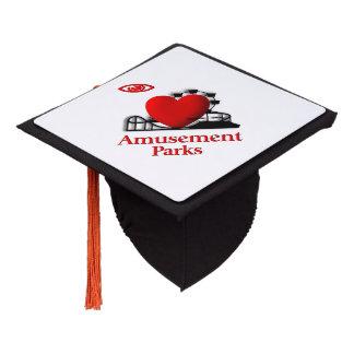 I Heart Amusement Parks Graduation Cap Topper