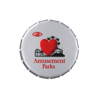 I Heart Amusement Parks Jelly Belly Tin
