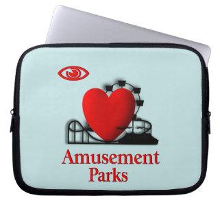 I Heart Amusement Parks Laptop Sleeve